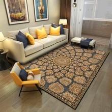 Classical Rug European Pattern Crystal Velvet Carpet Living Room Bedroom Bed Blanket Kitchen Bathroom Floor Mat
