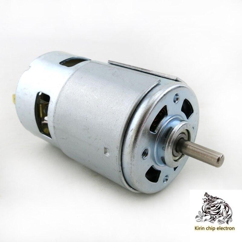 2pcs / Lot 775 Round Shaft Motor DC Motor Ball Bearing Electric Tool 12-24V 775 Motor DIY Large Torque