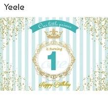 Yeele wszystkiego najlepszego z okazji urodzin nasza mała księżniczka złote obramowanie fotografia tła fotograficzne tła dla Photo Studio