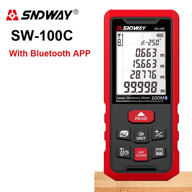 SNDWAY 50/70/100/120M Infrared electronic ruler Laser rangefinder Digital Laser distance meter Laser range finder bluetooth APP Laser Rangefinders     - title=