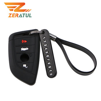 Zeratul Car Key Wallets Cover Car Holder Case for BMW E30 E36 E90 E60 E84 E39 E46 E90 E63 E53 F10 F30 X1 X3 X4 Remote Protector image