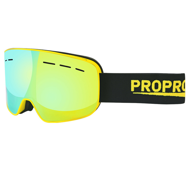 Propro Men/Women Ski Goggles Snowboard Goggles Big Double Layers Windproof Anti Uv/Fog Mask Snowmobile Skating Eyewear Glasses