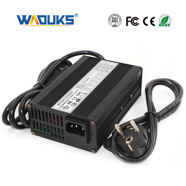 54.6V 3A Li ion Battery Charger For 13S 48V li ion battery Charger Output DC 54.6V With cooling fan Smart Charge