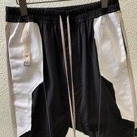 Harajuka Top Brand New Design Denim Patchwork Tassel Mens Drawstring Waist Knee Length Loose Male Casual Cross Shorts