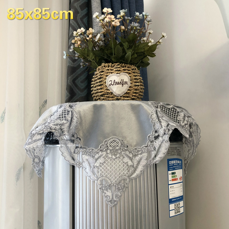 European Style Velvet Lace Embroidered Retro Tablecloth Furniture Dustproof Hotel Restaurant Fireplace Banquet Decoration Cloth