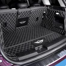 Carro totalmente fechado tronco proteção esteira almofada de couro para bmw mini cooper um f54 f55 f56 f60 r60 clubman acessórios do carro interior