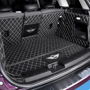 Car Fully enclosed trunk protection mat leather pad For BMW MINI COOPER ONE F54 F55 F56 F60 R60 CLUBMAN accessories interior - discount item  30% OFF Interior Accessories