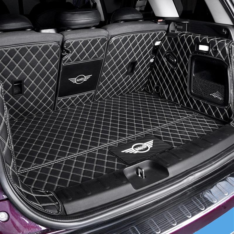 Mobil Sepenuhnya Tertutup Bagasi Perlindungan Mat Pad Kulit untuk BMW MINI COOPER SATU F54 F55 F56 F60 R60 Clubman Mobil aksesoris Interior