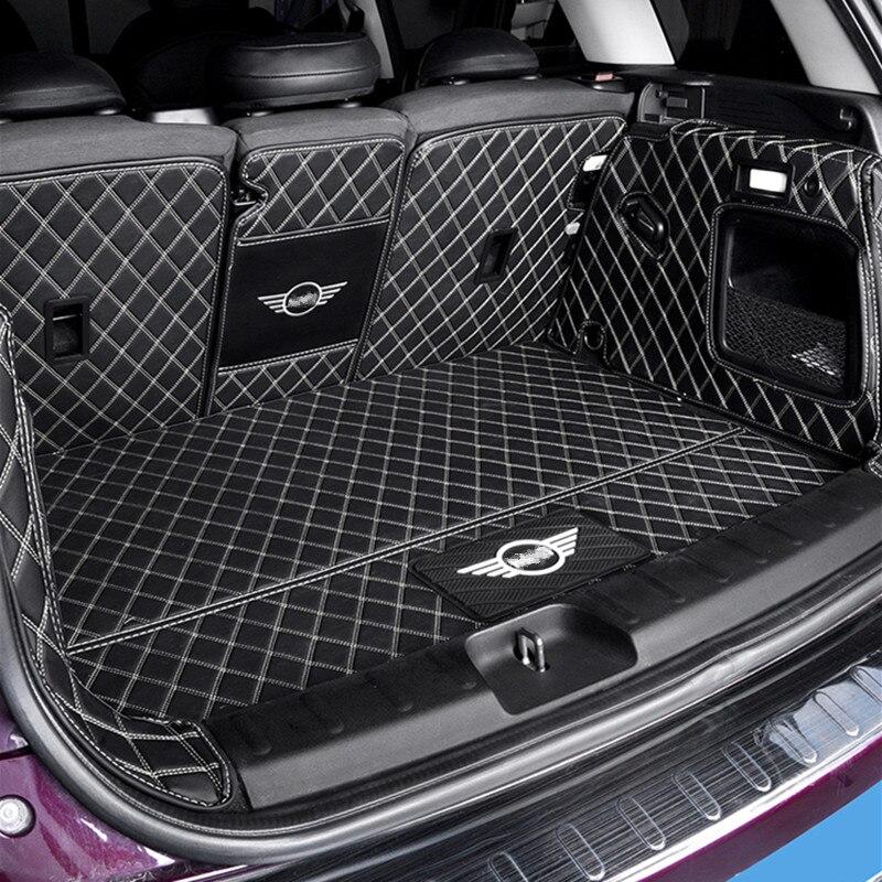 Totalmente fechado proteção tronco almofada de couro tapete do carro Para BMW MINI COOPER ONE F54 F55 F56 F60 R60 CLUBMAN Carro acessórios interior