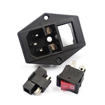 Przełączane gniazdo zasilania łącznik AC 250V oświetlenie z uchwytem bezpiecznika do Arcade obudowa komputera Jamma i MAME DIY zabawna maszyna tanie i dobre opinie xinmo Power Socket 8 lat Switched Power Socket Cnnector