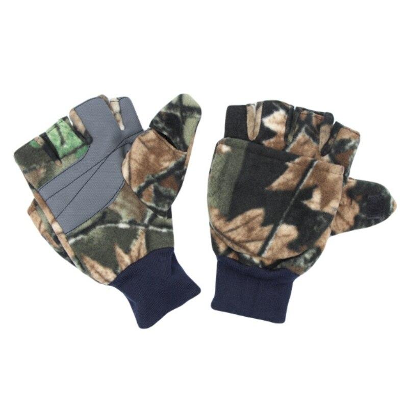 Unisex Winter Outdoor Sports Gloves Fingerless Flip Gloves Photography Running Fishing Gloves  Anti-slip Half Finger Gloves