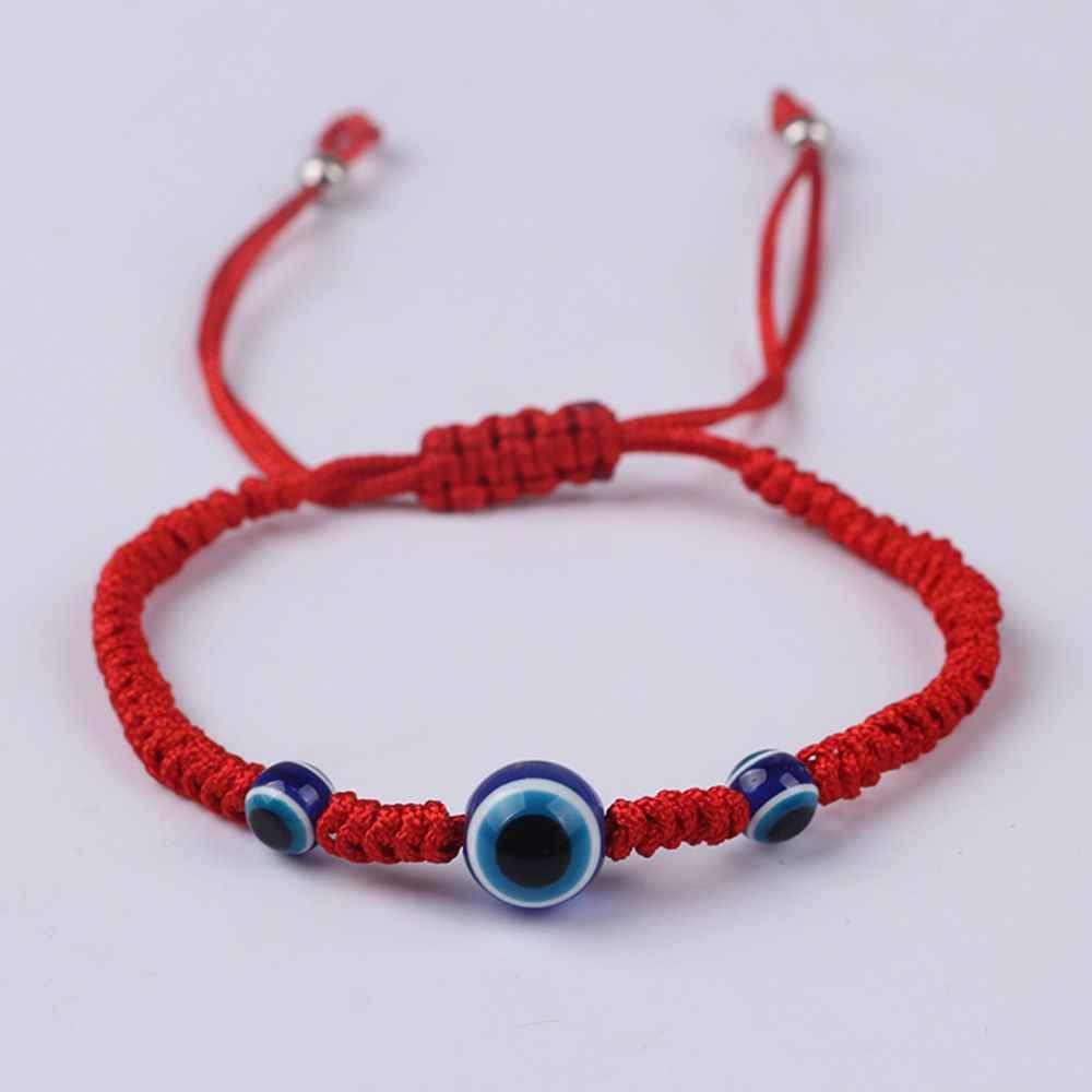 Rojo de la suerte cadena hilo pulseras HAMSA azul turco mal de ojo encanto de las mujeres de la pulsera de la Amistad hechos a mano accesorios de la joyería, regalos