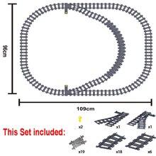 Blocks Model-Figure Rail-Track Trains Construction-Building-Toys Curved-Rails City Flexible