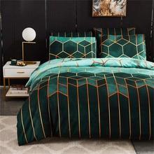 ADOREHOUSE Geometrische Bettwäsche Set Kissen Fall Bettbezug Bett Bettwäsche Tröster UNS Königin König Bettwäsche Familie Größe Keine Bett Blatt