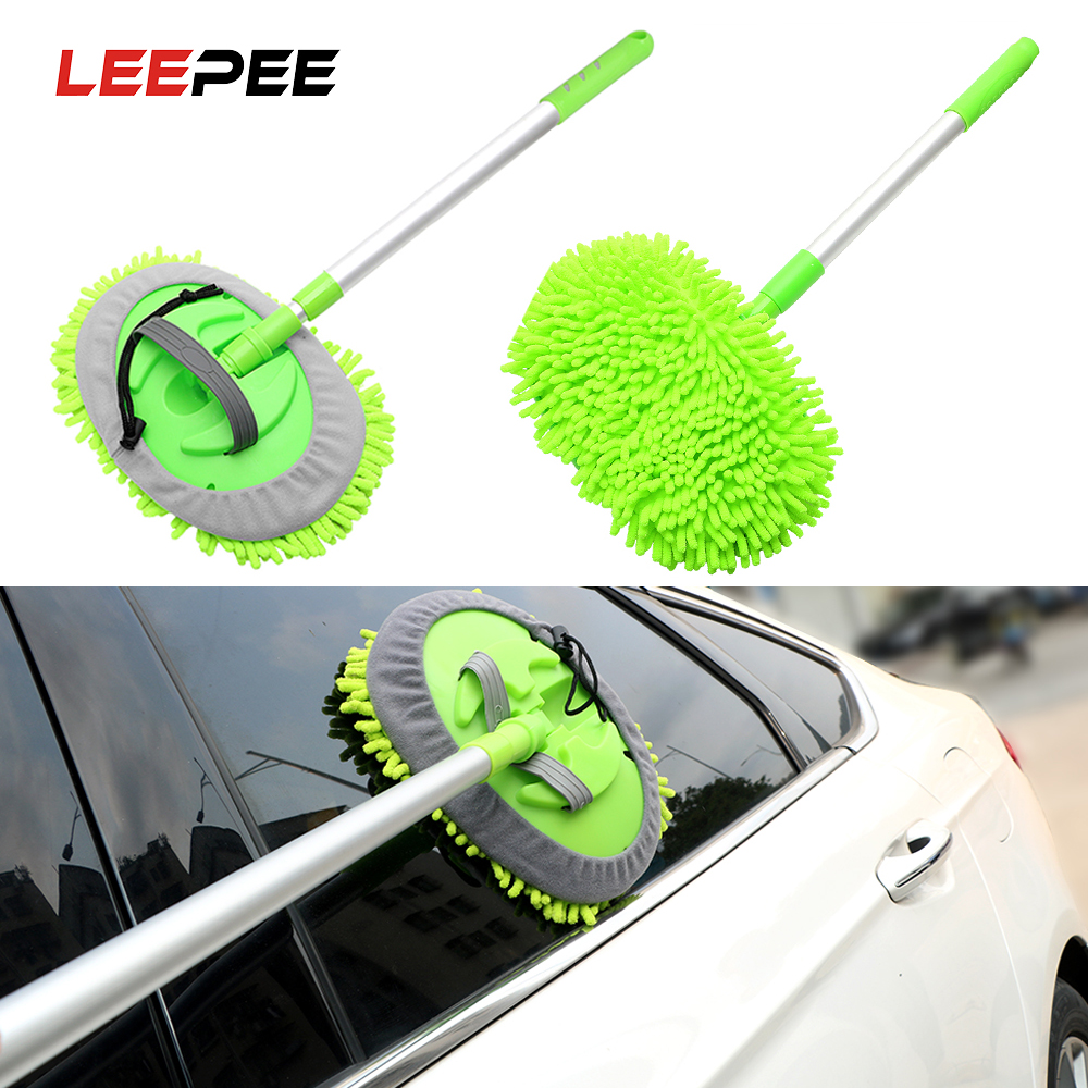 LEEPEE Car Washing Mop Window Wash Tool Adjustable Dust Wax Mop Auto Care Detailing Super absorbent Car Cleaning Car Accessories