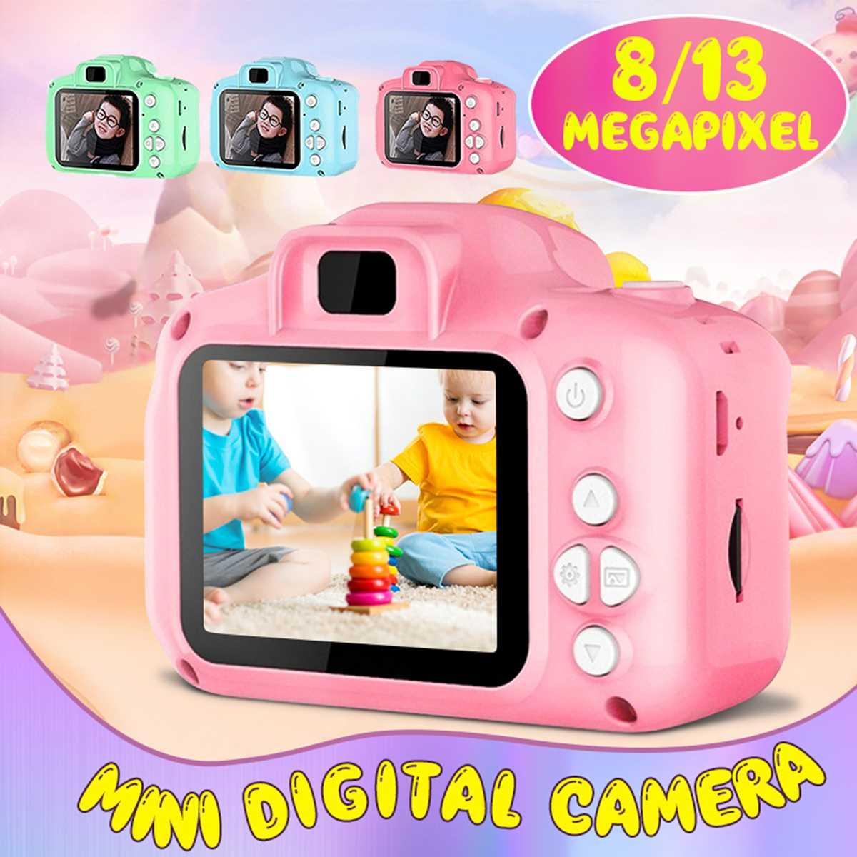 13 million HD pixels Screen Chargable Digital Mini Camera Kids Cartoon CameraToys Photography Video For Child Birthday Gift