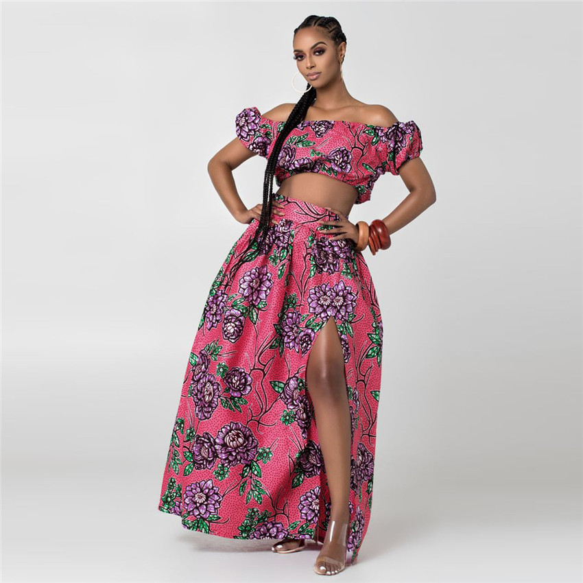@Hadja Shoulder Off & African Skirt 3
