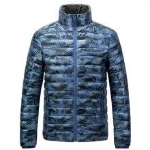 Winter new men's light down jacket  coat men's outdoor down jacket men's hatless stand collar warm breathable cotton clothing цена