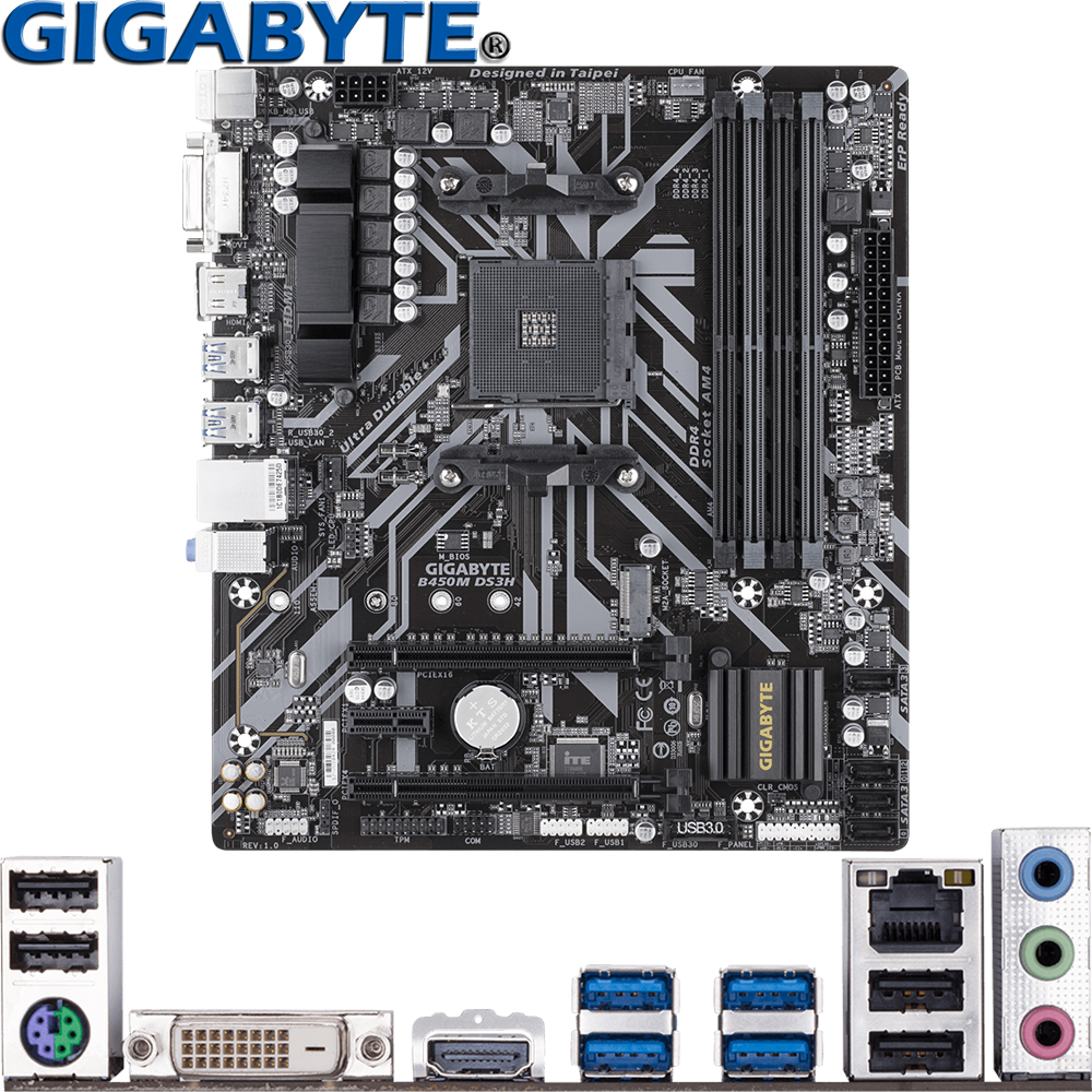 GIGABYTE B450M DS3H For AMD Ryzen 3/5/7/9 1th.2th.3th.Athlon Socket AM4 USB3.1 HDMI M.2 B450 Micro ATX Desktop PC Motherboard|Motherboards| - AliExpress