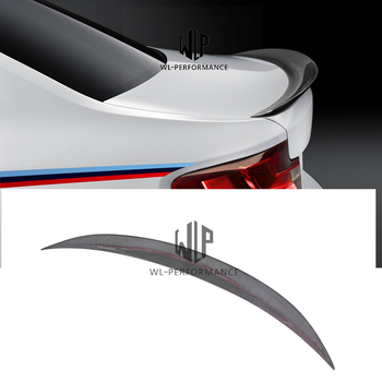 E82 E88 P Style Rear Wings trunk Lip Spoile High quality Carbon Fiber Auto Car Rear Spoiler For BMW E82 E88 1M Car Body Kit image