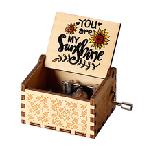2020 newest You are my sunshine inspired quotes print wooden music box