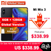 Global Version Xiaomi Mi Mix 3 6GB 128GB Snapdragon 845 Octa Core Smartphone 24.0MP Front Camera Wireless Charger