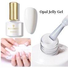 BORN PRETTY Opal Jelly Gel Nail Polish 6ml Pink Jelly Gel Polish Base No Wipe Top Coat White Soak Off Nail Art UV Gel Varnish