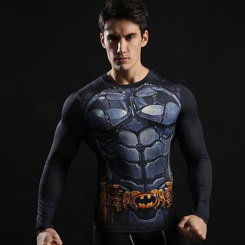 Spider-Man shirt gym shirt men running long sleeve compression shirts tight marvel t shitrs Batman superman sports t shirt brand Lahore