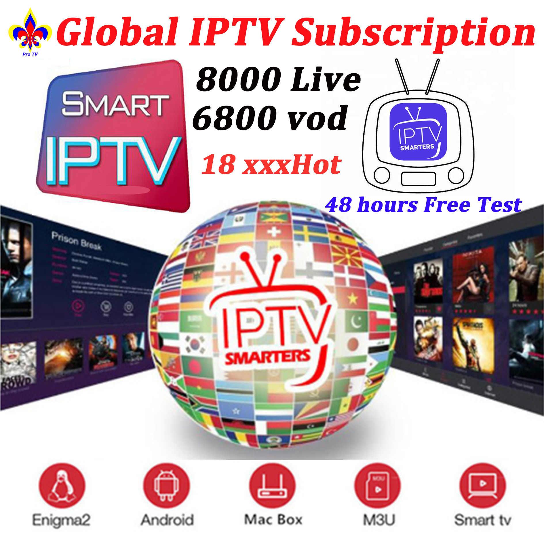 Monde IPTV M3u abonnement 8000 en direct et vod Iptv Europe Mediaset allemand Premium M3U Vlc pour Android Box Enigma2 Smart TV PC
