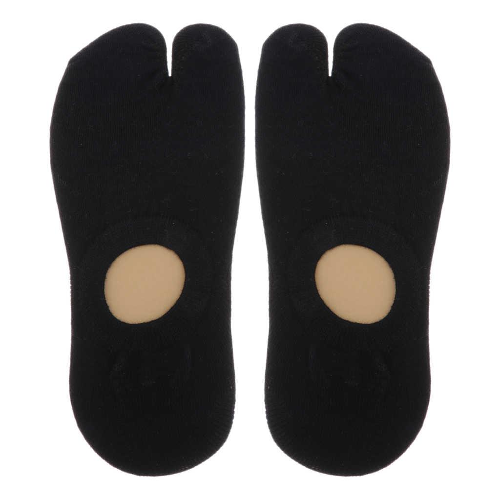 Tabi ayak çorap 2 parmaklar pamuk düz kısa uzunluk ayak bileği çorap erkek kadın spor