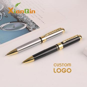 Personalized Gift Pen Metal Ballpoint Pen Customized Logo Pens Engrave Logo Company Name School Office Supplies 1.0mm Black Ink sales champion 60pcs lot 10 colors metal pen customized logo printing with free logo name or text for company event supplies