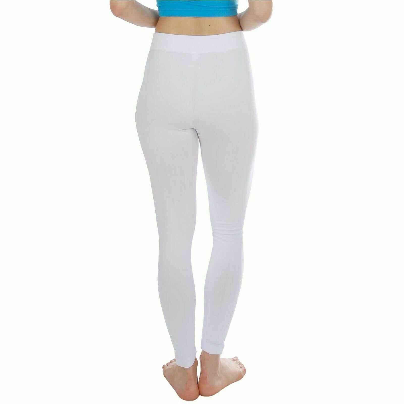 Nueva moda mujer otoño invierno cálido Stretch Leggings longitud completa Slim Leggings entrenamiento pantalones de realce negro blanco