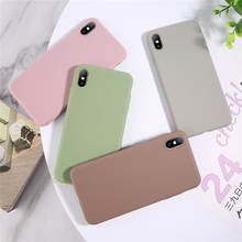 Ottwn Fashion Plain Color Phone Cases For iphone X XS MAX XR 6 6S 7 8 Plus Soft Silicone Back Case Cover Shells