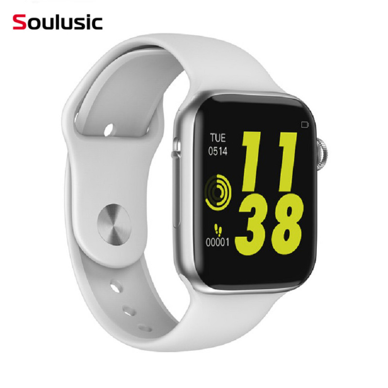 Soulusic W34 Chamada Bluetooth Relógio Inteligente Monitor de Freqüência Cardíaca ECG iwo 8 lite Smartwatch para Android iPhone xiaomi banda PK iwo 8 4 iwo 10