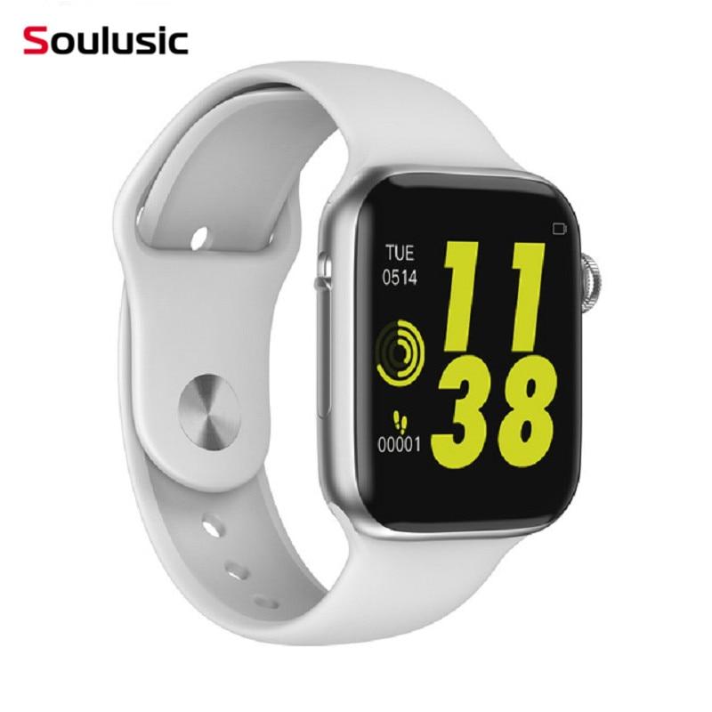 Soulusic W34 Chamada Bluetooth Relógio Inteligente Monitor de Freqüência Cardíaca ECG iwo 8 lite Smartwatch para Android iPhone xiaomi banda PK iwo 8 10