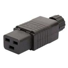 Iec pdu ups 16a 250vac 320 c 19 plug, iec c19 diy plug, conector iec 320 c19 c19 plugue femea conect retailsale