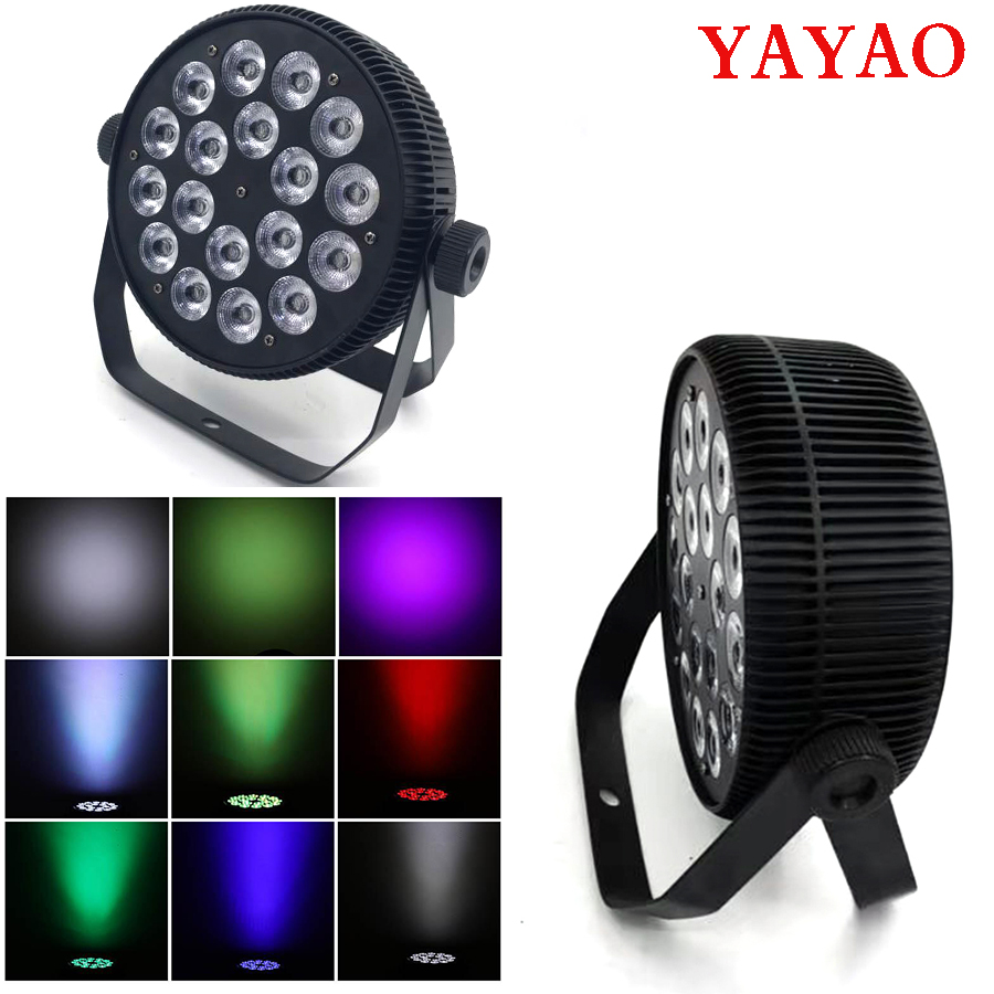 YaYao 18X12W LED Par Stage Light 4/8 DMX Channels High-Quality for Family Party Lights Sound Control KTV Disco DJ Lamp
