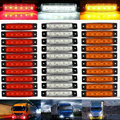 30 шт. 12 В 6 светодиодный красный + белый + желтый грузовик прицеп пикап боковые габаритные Индикаторы огни