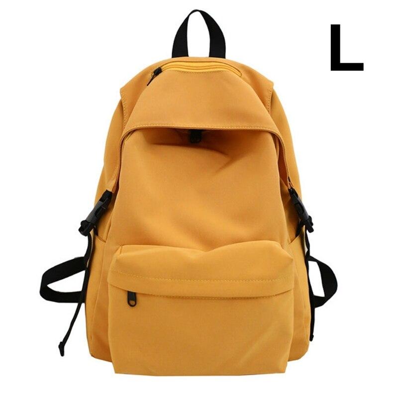 Купить нейлоновый рюкзак унисекс однотонный дорожный портфель для подростков