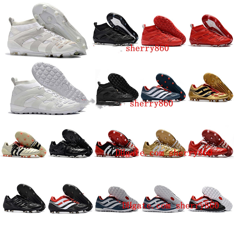 Hot Classics Predator Accelerator Electricity Precision FG X Beckham DB Zidane ZZ 1998 98 Men Soccer Shoes Cleats  Football Boot
