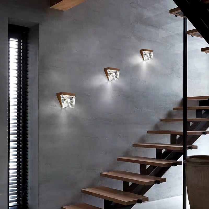 Blonche Moderne LED Wandlamp Crystal Gold Wandkandelaar Verlichting voor Slaapkamer Woonkamer Restaurant Verlichting Loft Armaturen Armatuur - 3
