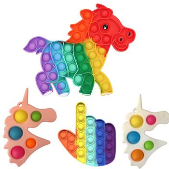 Pop It fidget Push Pop Bubble zabawka sensoryczna autyzm potrzebuje Squishy Stress Reliever zabawki dla dorosłych dzieci śmieszne antystresowe Pop It Fidget tanie i dobre opinie CN (pochodzenie) MATERNITY W wieku 0-6m 7-12m 13-24m 25-36m 4-6y 7-12y 12 + y fidget toys kids fidget toys Sport simple dimple