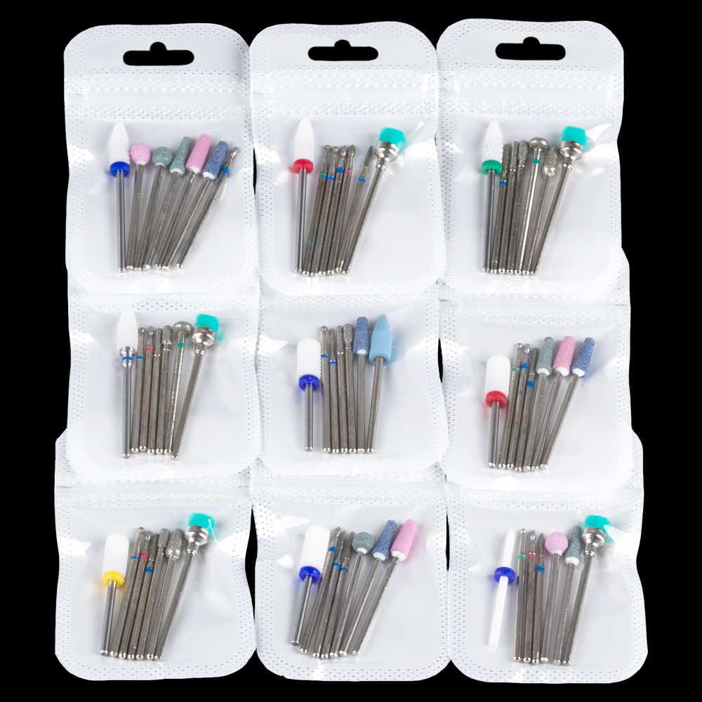 Фреза для маникюра, керамические алмазные фрезы для дизайна ногтей, фрезы для удаления гель-лака, инструменты для маникюра