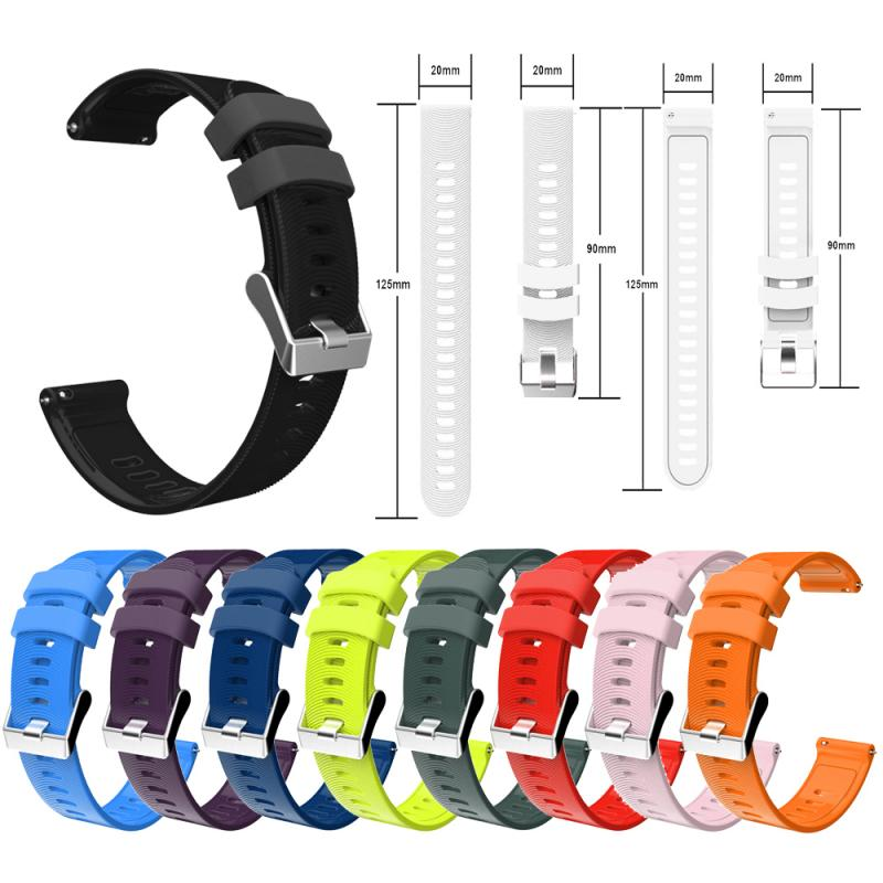 10 Colors Solid Texture Strap For Garmin Vivoactive 3 Forerunner 245 Smart Watch Strap Silicone Replacement Sport Band Bracelet(China)