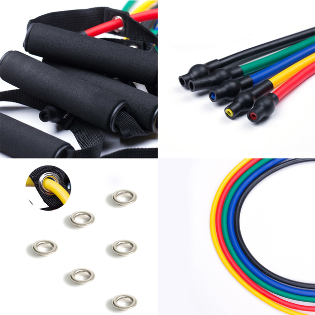 120cm Fitness Resistance Bands Gym Equipment Elastic Bands Pull Rope Fitness Eqquipment 6