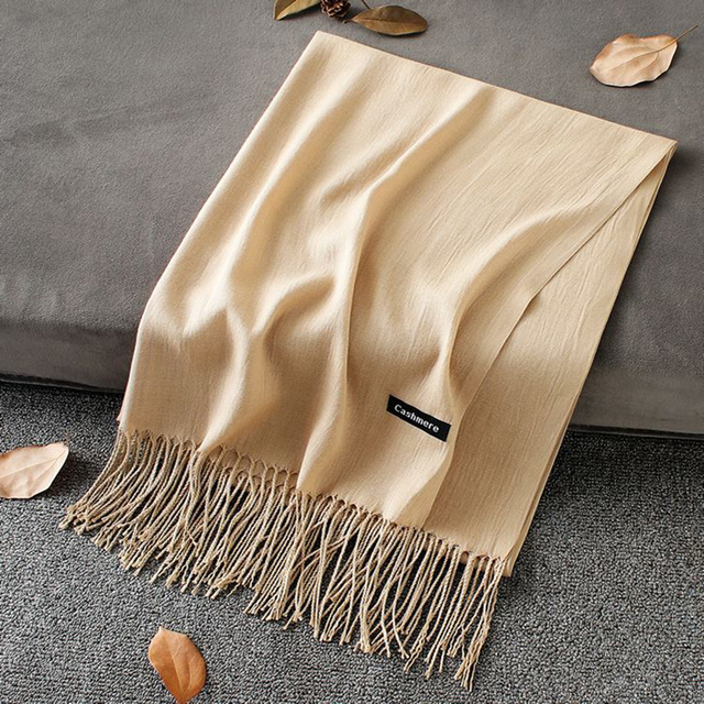 Soft Cashmere New Solid Color Wraps Thin Long Scarf 2