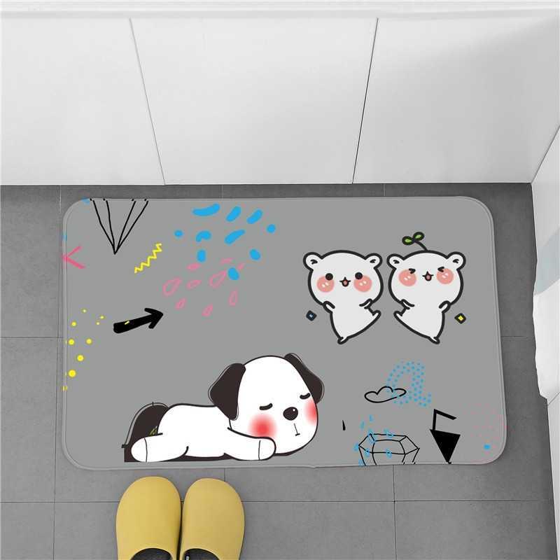 لطيف مدخل المنزل ممسحة المضادة للانزلاق حمام السجاد امتصاص الماء الحمام حصيرة غرفة نوم المعيشة حصيرة أرضية الغرفة المطبخ بساط الأرضية