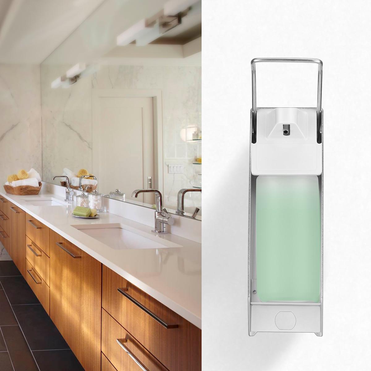 H2124e8eee4c34092a0c60a20fc3d3dc4n Wall-Mount Liquid Soap Dispenser Pump Hospital Elbow Press Hand Sanitizer Soap Dispenser Bottle For Kitchen Hotel Bathroom