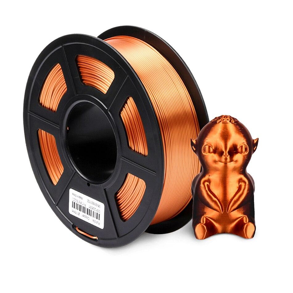 SILK PLA SPLA Filament 1.75mm 1kg 3D Printer Filament Silk Texture 3d Printing Material Plastic PLA Dimension Accuracy +/-0.02