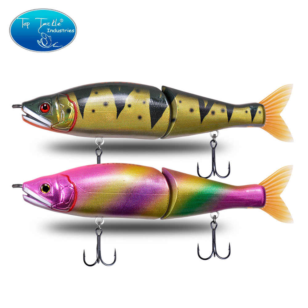 5 Jointed Swimbaits Fishing Lures Artificial Glide Bass Trout Crankbait Pike